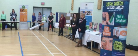 Booths at the 'Mind, Body, Spirit' day at the Newfoundland and Labrador Youth Centre (NLYC)