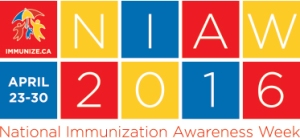 National Immunization Awareness Week Logo