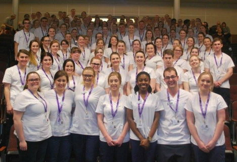 First year CNS BN students attend the annual Welcome to the Nursing Profession Ceremony, April 2016