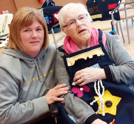 Colleen Legge and her mother Elsie, a resident at Pleasant View Towers