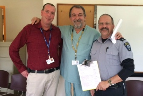 Dr. van der Linde and two colleagues
