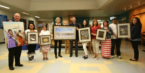 Aboriginal art unveiling supported by the Dr. H. Bliss Murphy Cancer Care Foundation on National Aboriginal Day, June 21, 2016.