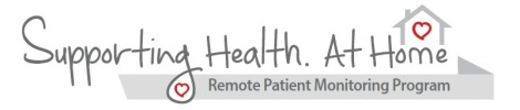 Supporting Health. At Home: Remote Patient Monitoring Program logo