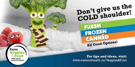 Eastern Health's Vegetables and Fruit Campaign