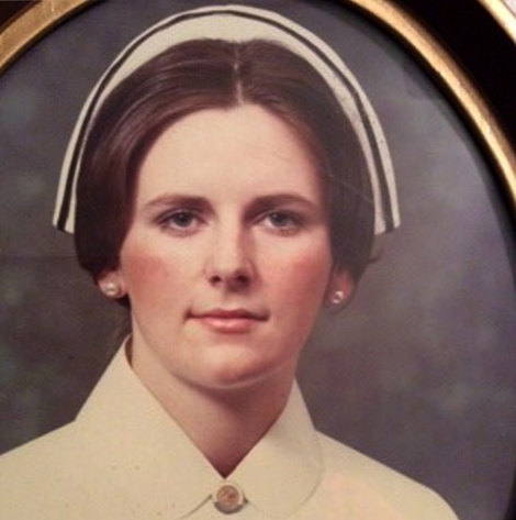 Mary (Roche) O'Brien as a new nursing graduate (1974)