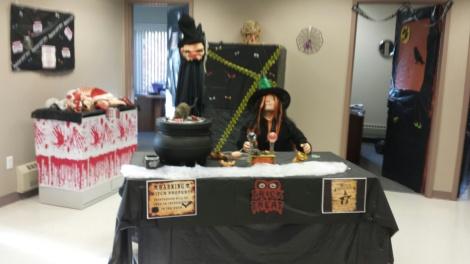 A unit's spooky Halloween scene