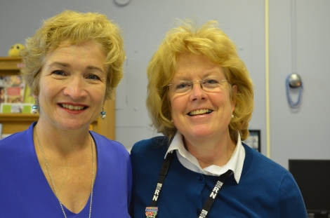 (r-l): Dr. Pauline Duke and Barbara at the Refugee Clinic, MUN Family Practice Unit