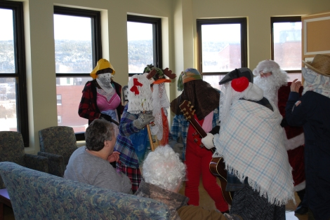 The Mummering tradition is a highlight during the Christmas season at the Waterford Hospital