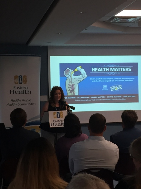 Tracey Sharpe-Smith speaks at the launch of Rethink That Drink