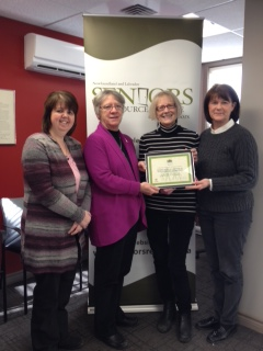 Tammy presenting the Community Development Fund to the Seniors Resource Centre of Newfoundland and Labrador.
