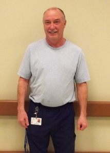 Brian Pinsent, a licensed practical nurse at Eastern Health for over 27 years