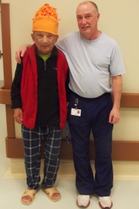 Long-term care resident, Lachhuman, and Brian Pinsent, LPN