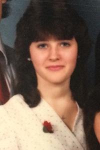 Darlene Didham (14 years old) in Middle School, 1984