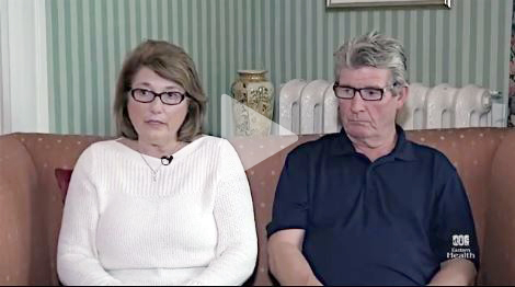 Shirley, breast cancer patient, and husband Adrian Yetman
