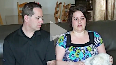 Lisa, breast cancer patient, and husband Dean Menchions