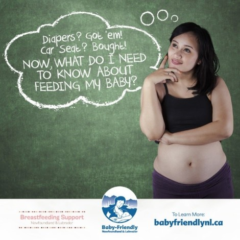 It's important to think about feeding practices before baby arrives. Learn more at Baby Friendly Newfoundland and Labrador.