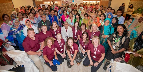 Broken Earth team with conference attendees. Photo by Travis C Horn.