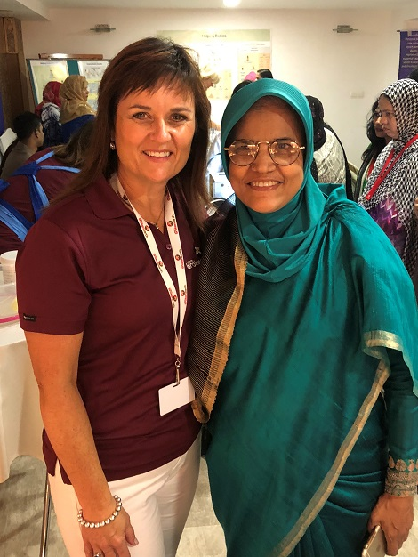 Tracey Carter with Bangladeshi professor, Syeba Akter. Photo by Tracey Carter.