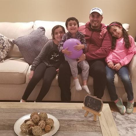Dr. Bassem Elshahat with his children in St. John's
