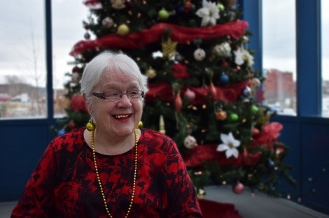 Joan Adams, resident at the Caribou Memorials Veterans Pavilion.