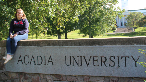 Sarah Jane at Acadia University