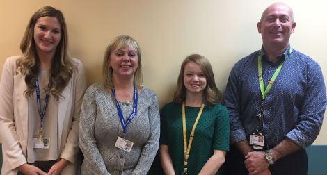 (L-r): Heather Williams, pharmacy resident; Dr. Barbara Thomas, clinical pharmacy specialist and pharmacy residency coordinator; Jenna Haché, pharmacy resident; and Norm Lace, pharmacy program director and residency director, all with Eastern Health