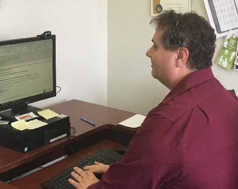 Barry in his office at the Health Sciences Centre, Eastern Health