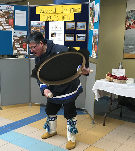 Sol performs at the 2018 Indigenous Peoples Awareness Day event at Health Sciences Centre