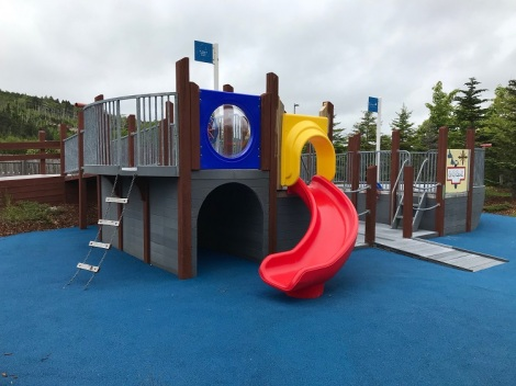 Janeway Play Garden – ship themed play structure.