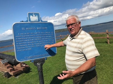 David Fagan, the president of the St. Mary's Battery Restoration Committee at the Battery where the 'Waterford Cannon' will be displayed.