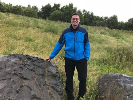 Senior regional manager of Infrastructure Support Daniel Parsons says finding a centuries-old cannon resting on this rock in the Waterford Hospital's back yard was a most unusual find!